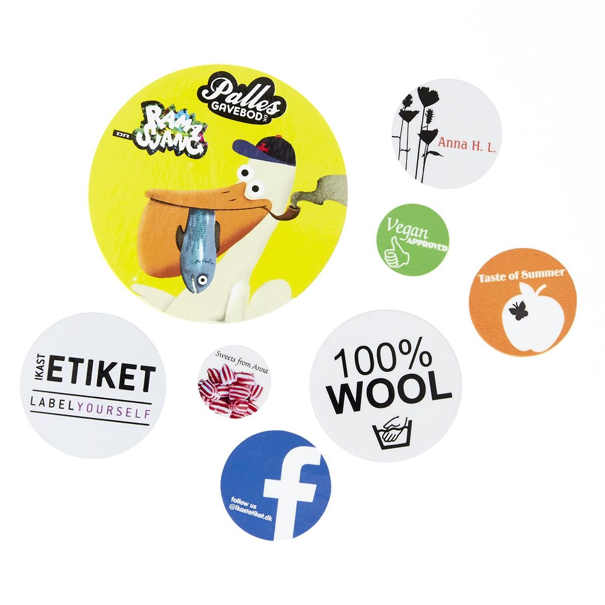 Sticker Teksten Bestellen.Ronde Stickers Met Tekst Hieronder Bestellen